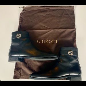 eb91dee481f Gucci Shoes - Gucci men s ankle boot with interlocking G s